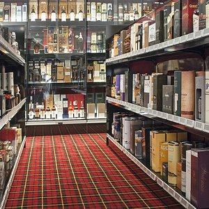 We have approximately 3000 whiskies on display!
