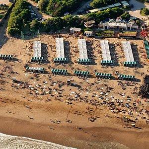 Vista aérea del balneario