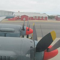 The last airworthy Avro Shackleton seen from the aircraft