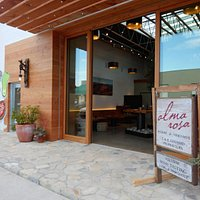The entrance to the Alma Rosa Tasting Room.