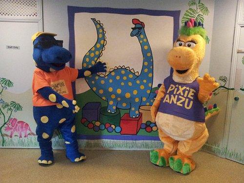 Bramley The Brontosaur and Pixie Anzu