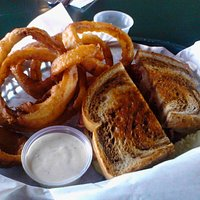 grilled pastrami & onion rings