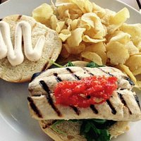 Mahi Mahi sandwich, really good.