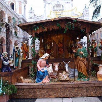 Il Presepe realizzato in Piazza della Madonna