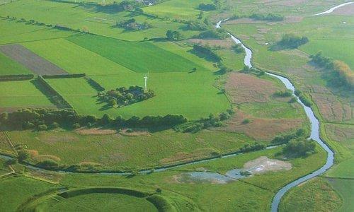 Luftfoto af Trelleborg vikingeborg