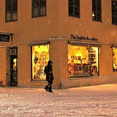 The English Bookshop, Uppsala, in the winter