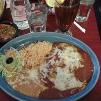 Combo Dinner - Enchiladas, Beans & Rice!