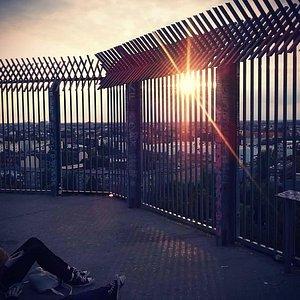 Sundown from the Humboldthain Flak Tower