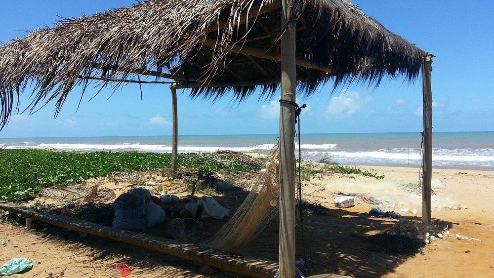 Praia boa somente para pescadores