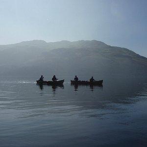 Canoeing on Loch Lomond