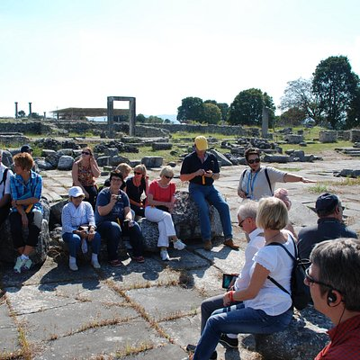 Guiding in Philippi, Macedonia, Northern Greece
