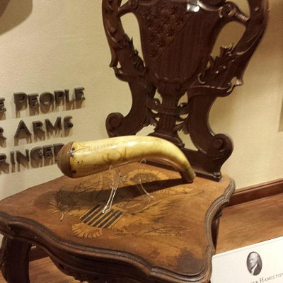 The music box chair at the NRA museum.