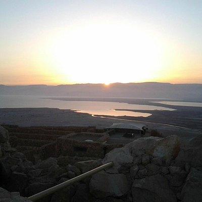 Sunrise Masada. Masada  soleil levant.