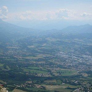 シャランス山頂上からの風景。