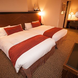 The Premier Twin Room at the Hotel Grand Fresa Akasaka