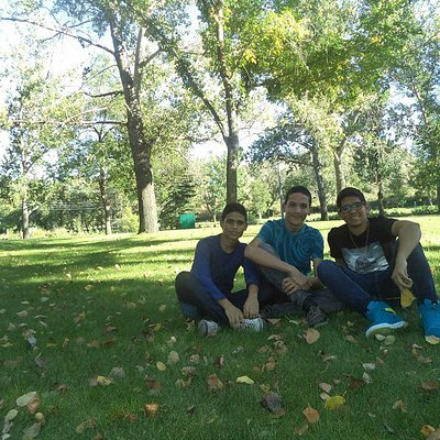 Com mais 2 amigos. Eram umas 5 da tarde, foi ótimo esse dia. Isso é apenas o início do lugar.