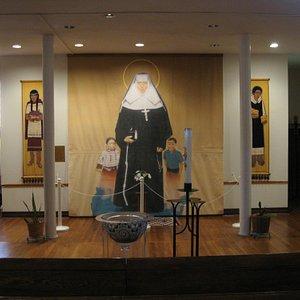 Banner from Vatican hanging in Chapel