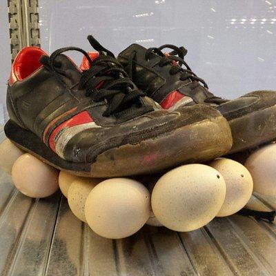 Indrukwekkende kunstcollectie schoenen.
