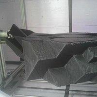 een stuk van het huis in de printer