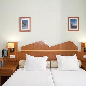 The Double Room at the Pensao Praca da Figueira