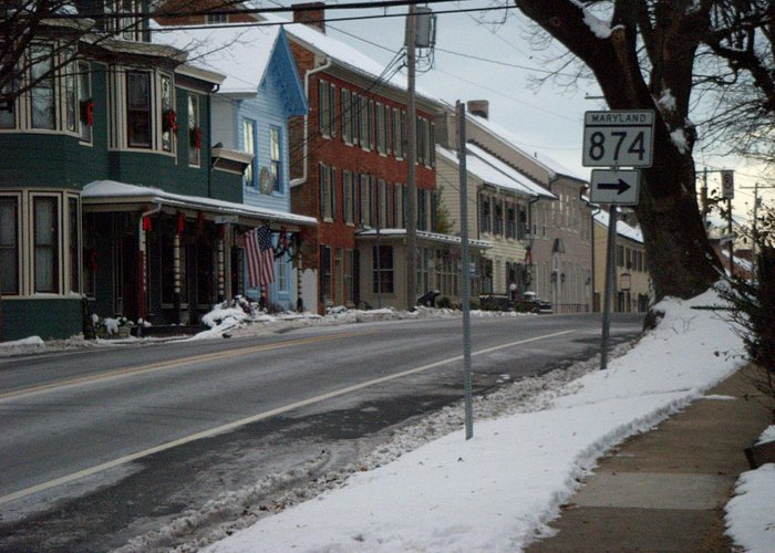 Historical Street View New Market, Maryland
