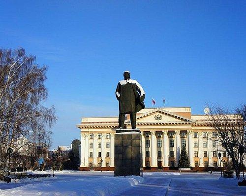 Центральной площади перед зданием Правительства Тюменской области