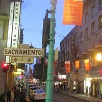 Sacramento Street, Chinatown Area, San Francisco, Ca