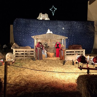 Living Nativity manger scene