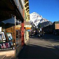 Banff Ave & Gallery Window