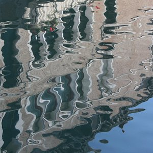 reflections in a canal.