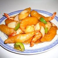 Crevettes à l'aigre-doux