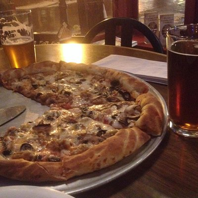 Pizza was awesome!! Winter ale was delicious
