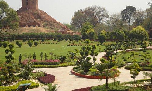 View overlooking the Chaukhandi Stupa