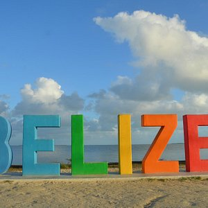 Afternoon view of Belize Sign