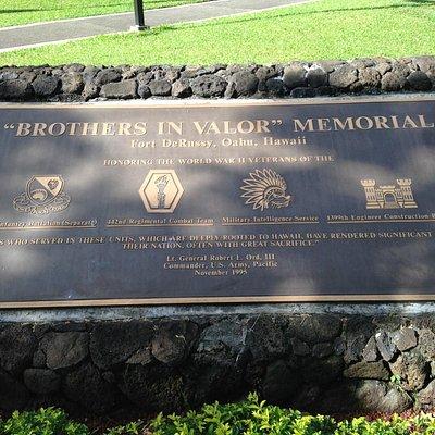 All Nisei & Native Hawaii units plaque