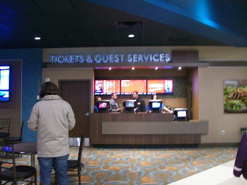 The Ticket Counter & Customer Service in the Theater