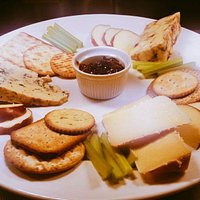 The Staffordshire Cheese board, Cheddleton Original, Black and Blue, Cheddleton Caramelised onio
