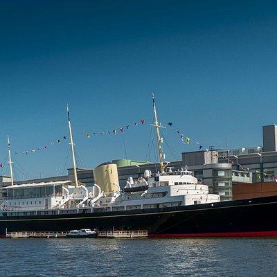 The Royal Yacht Britannia in Edinburgh's historic port of Leith