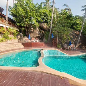 The Upper Pool at the Baan Hin Sai Chaweng Noi Boutique Resort