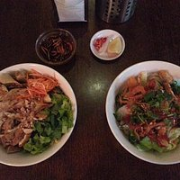 Vermicelli and spring rolls