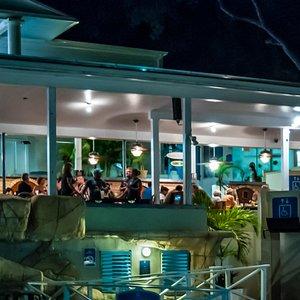Cabana Bar at Night on Bluebeard's Hill