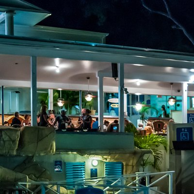 Cabana Bar at Night on Bluebeard's Hill