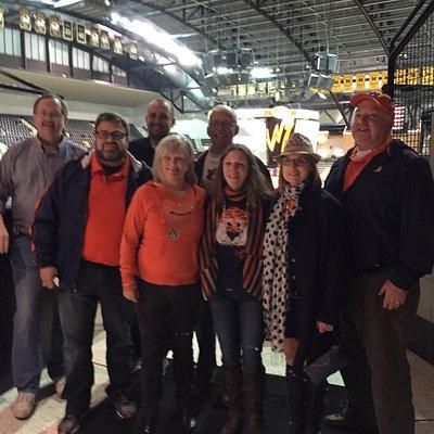 KC Auburn Alumni Club visit Mizzou Arena!