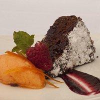Warm Dark Chocolate & Carrot Cake