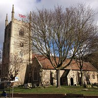 The Minster Church of St. Mary the Virgin on an early March Sunday morning.