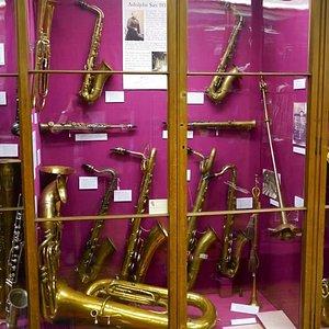 The Adolphe Sax exhibit.