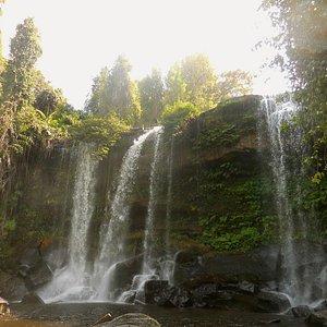 Kulen waterfall in the dry season.
