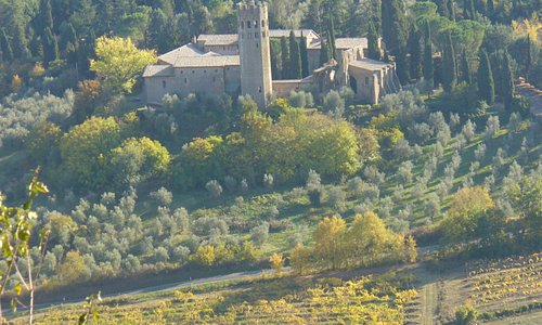 View of the abbey and of the beautiful surrounding countryside, from the Orvieto rock