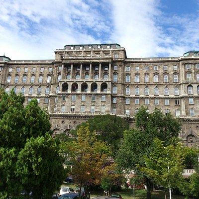 Budapest - Országos Széchenyi Könyvtár (Széchenyi National Library) - view from below