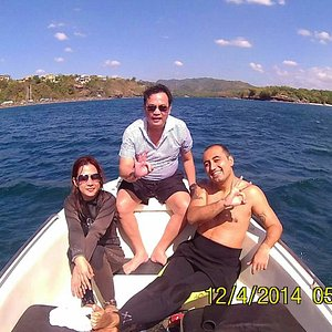 Scuba diving at punta fuego.